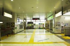Interior and inside of building at Kawagoe railway station in Sa Stock Photography