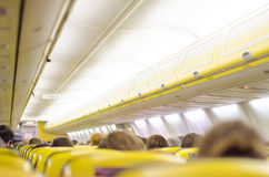Interior inside of the plane Stock Photos