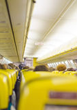 Interior inside of the plane Stock Photography