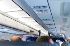 Interior inside of the plane. Stock Photography