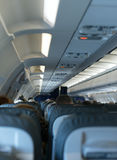 Interior inside of the plane. Royalty Free Stock Images