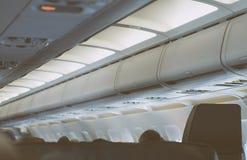 Interior inside of the plane. Stock Photos