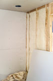 Interior Insulation and Sheetrock Stock Images