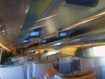 Interior interurbano del tren de Pendolino Fotos de archivo libres de regalías
