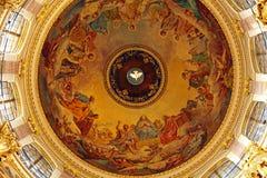Interior of Isaac Cathedral, Saint Petersburg Stock Photo