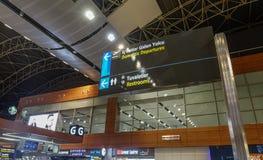 Interior of Istanbul Sabiha Gokcen Airport royalty free stock photos