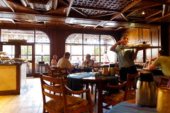 The interior of an Italian restaurant in the Egyptian resort Royalty Free Stock Photo