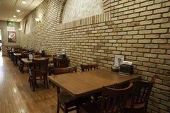 Interior italiano del restaurante - pizzería Foto de archivo