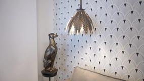 Interior item, dog. Lamp interior design stock video