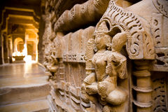Interior of Jain temple, Jaisalmer, India Stock Images
