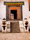 The interior of the Jakar Yugyal Dzong in Bhutan Royalty Free Stock Image