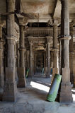 Interior of Jama mosque in Ahmedabad. Gujarat, India Stock Image
