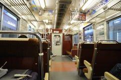 Interior of Japan Subway train Royalty Free Stock Photography