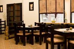 Interior of japanese restaurant, sushi bar Stock Photos