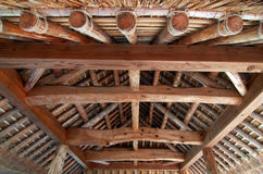 Interior of Japanese roof Royalty Free Stock Photo