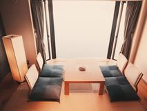 Interior of a Japanese room Royalty Free Stock Photos