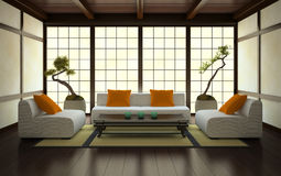 Interior in Japanese style Royalty Free Stock Photography
