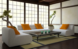 Interior in Japanese style Stock Photo
