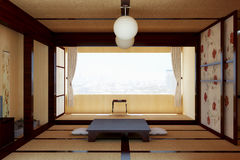 Interior in the Japanese style. Royalty Free Stock Photo