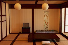 Interior in the Japanese style. Royalty Free Stock Image