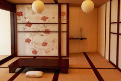 Interior in the Japanese style. Royalty Free Stock Photos