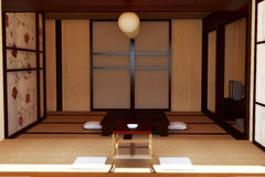 Interior in the Japanese style. Royalty Free Stock Images