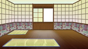 Interior japonés tradicional del sitio stock de ilustración