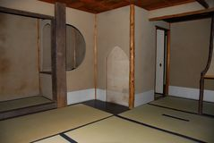 Interior japonês da casa do zen do vintage foto de stock royalty free