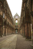 Interior of Jedburgh abbey Stock Images