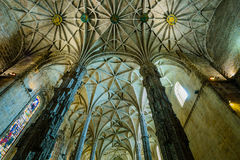 Interior of Jeronimos Monastery Stock Photography