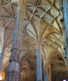 Interior of Jeronimos Monastery in Lisbon, Portugal. Royalty Free Stock Photos