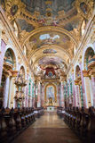 Interior of the Jesuit Church, Vienna Stock Photo
