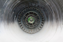 Interior of jet engine Royalty Free Stock Photography