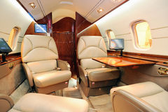 Interior of jet plane Stock Photography