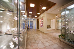 Interior Of A Jewel Shop Royalty Free Stock Image