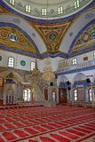 Al Jazzar Mosque in the old city of Acre, Israel. Interior of the Jezzar Pasha Mosque, also known as the White Mosque in Acre, Israel royalty free stock image