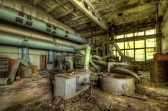 Interior of Jupiter Factory in Pripyat #2 (HDR) Royalty Free Stock Photo