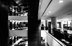 The interior of the JW Marriot in Washington, DC. Royalty Free Stock Images