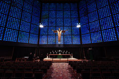 Interior of Kaiser Wilhelm Memorial Church Stock Images