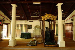 Interior of Kampung Duyong Mosque in Malacca, Malaysia Royalty Free Stock Photos