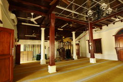 Interior of Kampung Duyong Mosque in Malacca, Malaysia Stock Photo