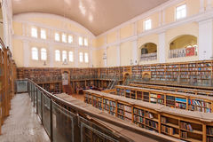Interior of the Karnataka State Central Library Street with vintage bookshelves Royalty Free Stock Image