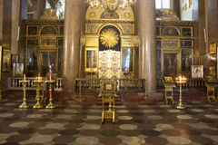 Vintage interior of the Kazan Cathedral in St. Petersburg Royalty Free Stock Image