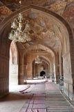 Interior khan de Masjid Wazir Foto de archivo libre de regalías