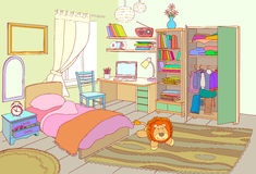 Interior Kids room. Royalty Free Stock Images