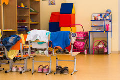 Interior in a  kindergarten Royalty Free Stock Photo