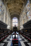 Interior of Kings College Chapel Royalty Free Stock Photo