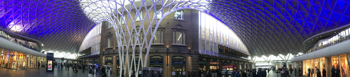 Interior of Kings Cross Railway Station - London Royalty Free Stock Image