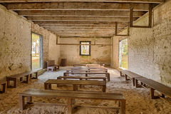 Interior of the Kingsley Plantation Barn Stock Photography
