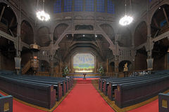 Interior of the Kiruna Church, Sweden Royalty Free Stock Images